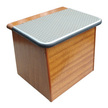 Mahogany Footstep Box - Grey Top