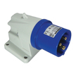Angled Mains 230v Plug - IP44 (Blue)
