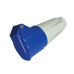 Mains 230V 3 Pin Socket - IP44 (Blue)