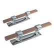 Chrome Mooring Cleat with Wooden Pole - 215mm