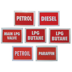 Boat Fuel Labels