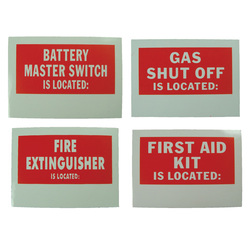Location Label - Battery Master Switch