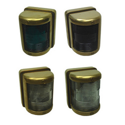 Brass Rectangular Navigation Lights