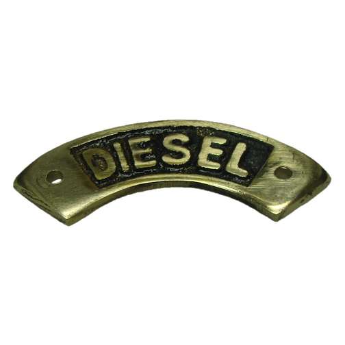 Brass Deck Filler Name Plate Diesel