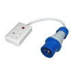 Trailing Socket - IP44 (Blue)