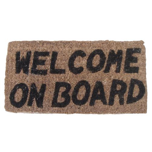 Welcome On Board Mat Sheridan Marine